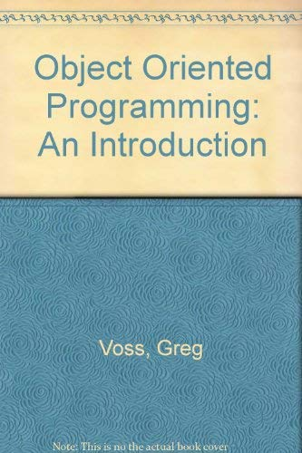 9780078816826: Object-Oriented Programming: An Introduction