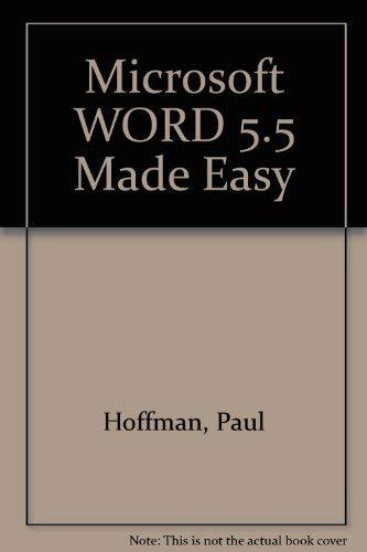 9780078817144: Microsoft WORD 5.5 Made Easy