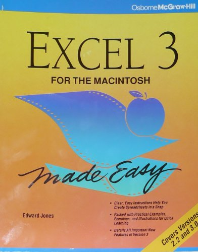 9780078817243: EXCEL for the Macintosh Made Easy
