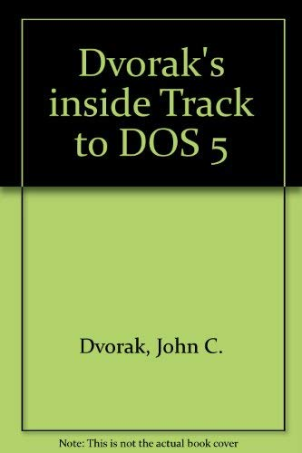 9780078817595: Dvorak's Inside Track to DOS and PC Performance/Book and Disk