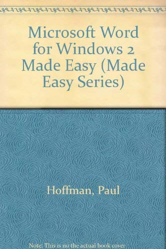 9780078817700: Microsoft Word for Windows 2 Made Easy (Made Easy Series)