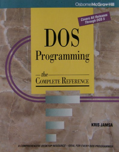 9780078817823: DOS Programming: The Complete Reference