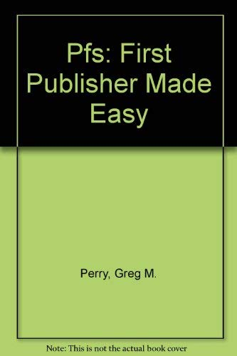 9780078817915: Pfs: First Publisher Made Easy