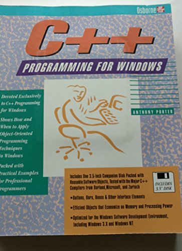 9780078818813: C++ Programming for Windows/Book and Disk