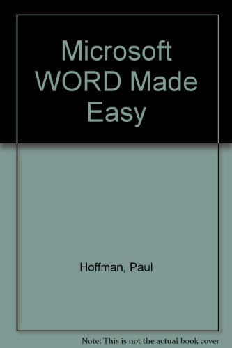9780078819391: Microsoft WORD Made Easy