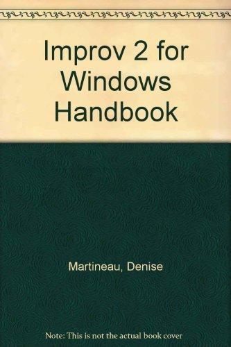 9780078819742: Improv 2 for Windows Handbook