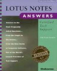 9780078820458: Lotus Notes Answers: Certified Tech Support