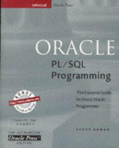 9780078821769: Oracle PL/SQL Programming (Oracle Series)