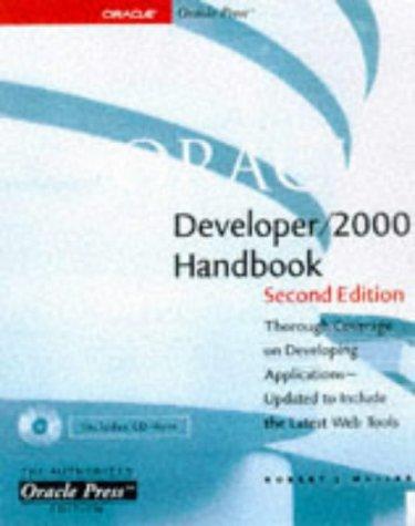 9780078823268: Oracle Developer/2000 Handbook (Oracle Series)