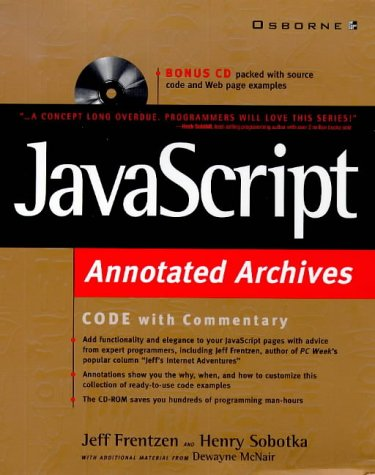 9780078823640: Javascript Annotated Archives