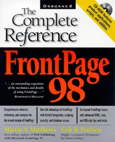 9780078823947: Frontpage 98: The Complete Reference