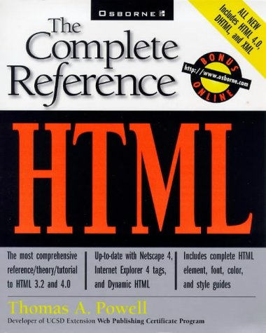 9780078823978: HTML: The Complete Reference