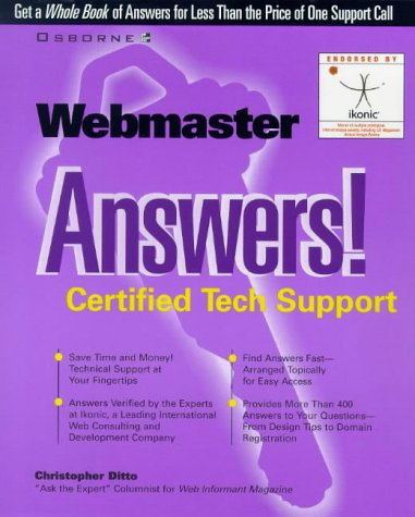 9780078824593: Webmaster Answers! Certified Tech Support