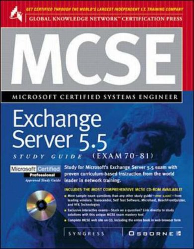 9780078824883: MCSE Microsoft Exchange Server 5.5 (Exam 70-76)