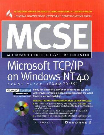 9780078824890: MCSE Microsoft TCP/IP on Windows NT 4.0 Study Guide (Exam 70-59)