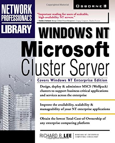 9780078825002: Windows NT Microsoft Cluster Server (McGraw-Hill Windows NT Professional Library)