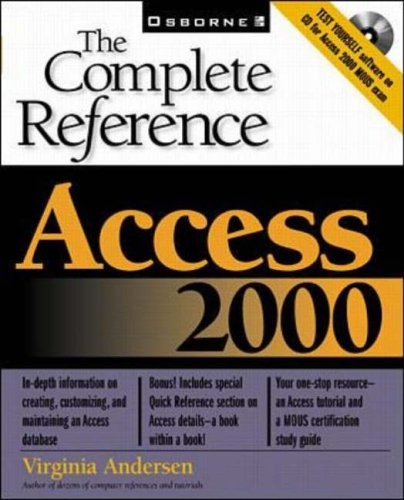 9780078825125: Access 2000: The Complete Reference