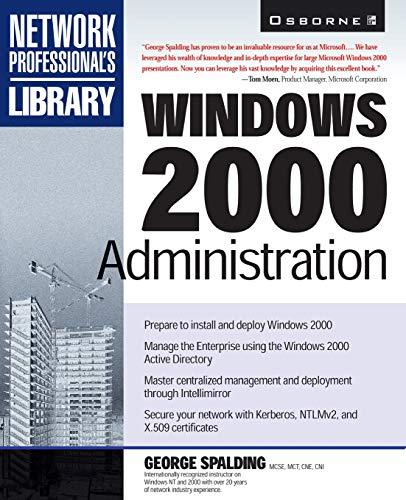 9780078825828: Windows 2000 Administration