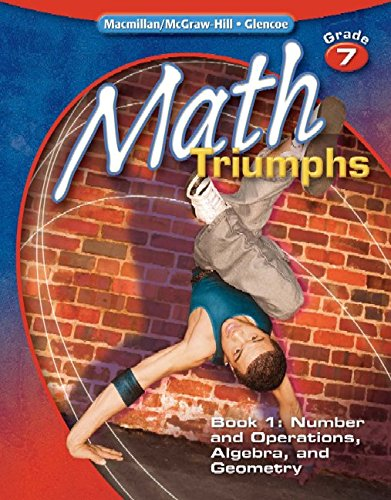 9780078882104: Math Triumphs, Grade 7, Student Study Guide, Book 1: Number and Operations, Algebra, and Geometry (MATH INTERVENTION (K-5))