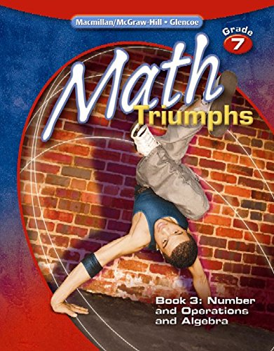 9780078882128: Math Triumphs, Grade 7, Student Study Guide, Book 3: Number and Operations and Algebra (MATH INTERVENTION (K-5))