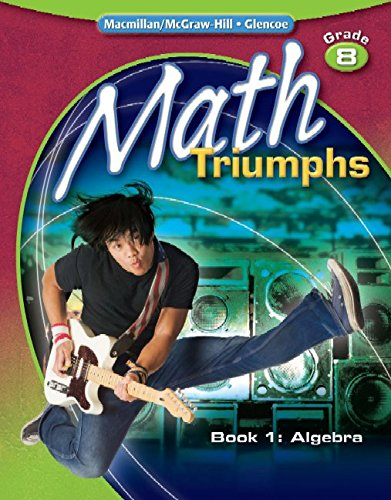 9780078882135: Math Triumphs, Grade 8, Student Study Guide, Book 1: Algebra (MATH INTERVENTION (K-5))