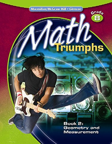 9780078882142: Math Triumphs, Grade 8, Student Study Guide, Book 2:  Geometry and Measurement
