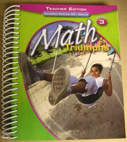 9780078882197: Math Triumphs, Grade 3, Teacher Edition