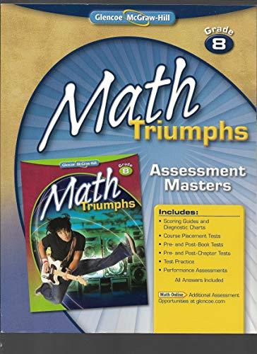 9780078882500: Math Triumphs Grade 8 Assessment Masters