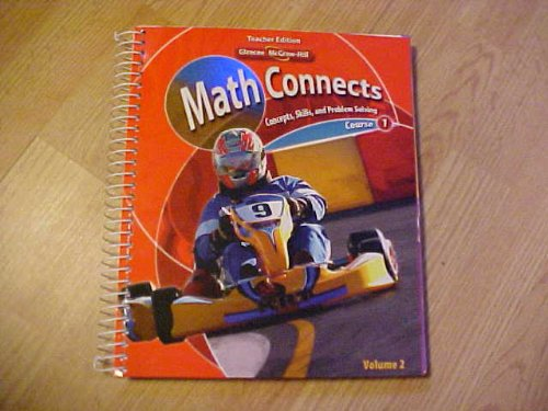 9780078882913: Math Connects: Concepts, Skills, and Problem Solving, Course 1, Volume 2, Teacher Edition