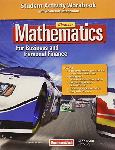 9780078883644: Mathematics for Business and Personal Finance Student Activity Workbook