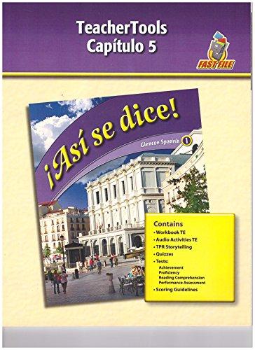 9780078883750: Asi Se Dice, Level 1, TeacherTools, Chapter 5