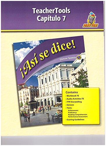 9780078883774: Asi Se Dice, Level 1, TeacherTools, Chapter 7