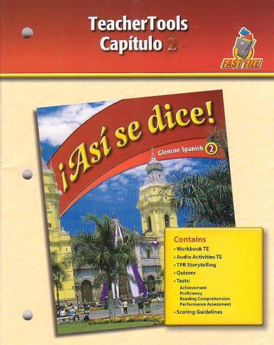 Asi se dice! - Capitulo 3 (Glencoe Spanish 2-Fast File): Glencoe