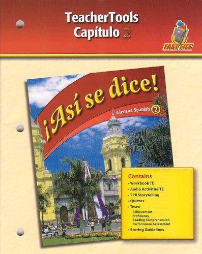 9780078883927: Asi se dice! - Capitulo 9 (Glencoe Spanish 2-Fast File)