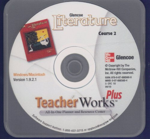 9780078885600: Glencoe Literature, Course 2, TeacherWorks Plus CD-ROM