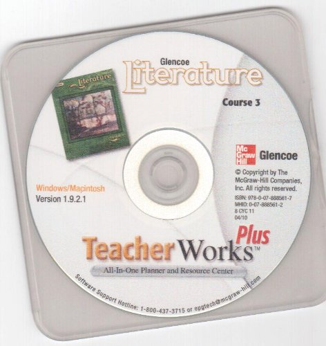 9780078885617: TeacherWorks Plus CD-ROM, Glencoe Literature [course 3] Grade 8