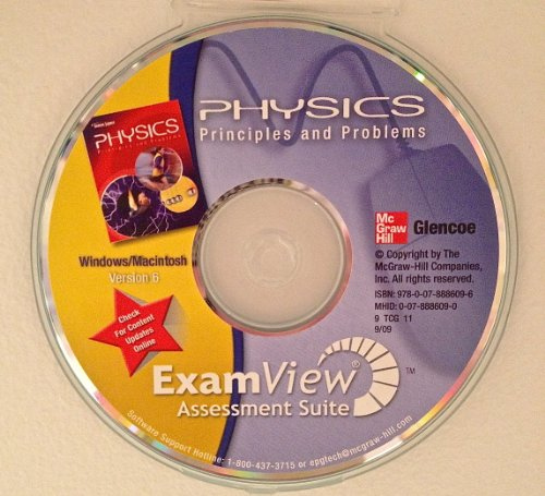 9780078886096: Glencoe Physics: Principles and Problems, ExamView Assessment Suite CD-ROM