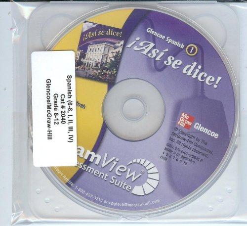 9780078886409: Asi se dice! ExamView Assessment Suite CD-Rom (Glencoe Spanish 1, Grades 6-12)