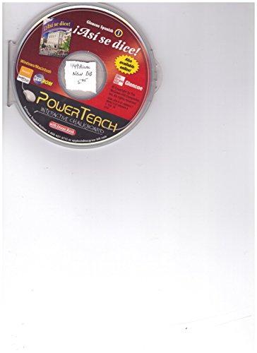 9780078886447: PowerTeach Interactive Chalkboard CD-ROM (Glencoe Spanish 1 Asi se Dice!) (CD-ROM)