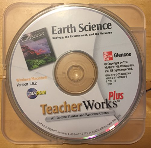9780078888335: Teacher Works Plus Earth Science Geology, the Environment and the Universe (All in One Planner and Resource Center)