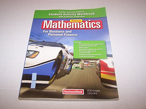 9780078888762: Math For Business Essentials & Personal Finance Workbook (TE)