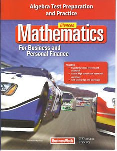 9780078888779: Mathematics for Business and Personal Finance: Algebra Test Preparation and Practice