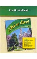 Asi Se Dice: Pre-ap Workbook (Spanish and: Martinez, Reina