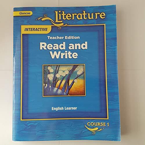 9780078895685: Glencoe Literature Interactive (read and Write, English Learner Course 1)