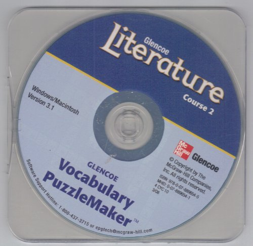 9780078896545: Glencoe Literature Course 2 Vocabulary Puzzlemaker