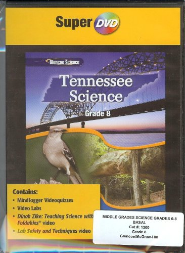 9780078901683: Glencoe Science Tennessee, Grade 8, Super DVD (MindJogger Videoquizzes, Video Labs, Dinah Zike, Lab Safety and Techniques Video, DVD)
