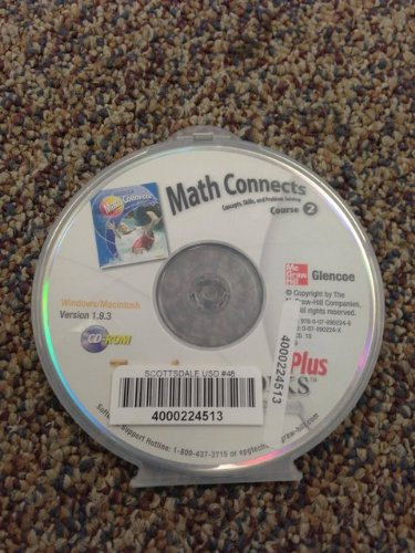 9780078902246: Math Connects Course 2, Concepts, Skills, and Problem Solving, Teacher Works Plus, Version 1.9.3 ISBN 9780078902246 MHID 007890224X