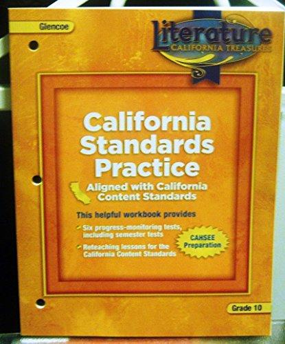 9780078903205: California Standards Practice Grade 10 (Literature: California Treasures)