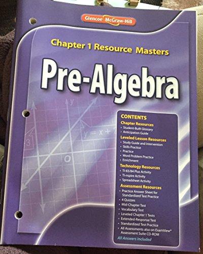 9780078904820: Glencoe McGraw-Hill Pre Algebra Teacher Chapter 1-13 Resources