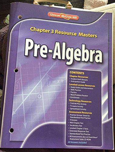 Glencoe Pre-Algebra Chapter3 resource Masters